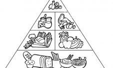 Pirámide alimenticia para colorear