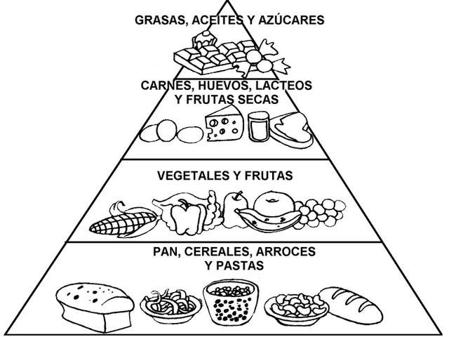 Pirámide alimenticia para dibujar